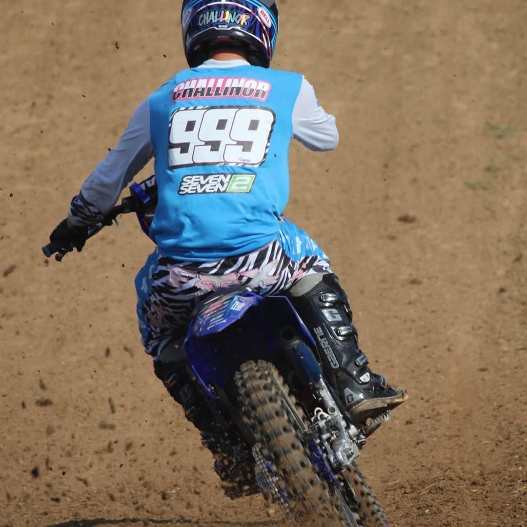 A motocross rider in action