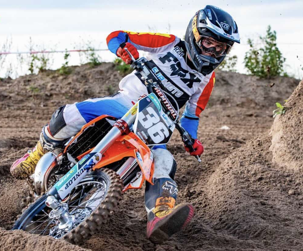 Hudson Roper, a motocross coaching client, in action.